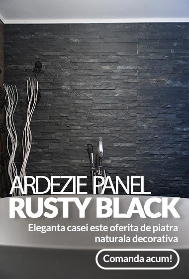 Ardezie Panel Rusty Black 15 x 60 cm