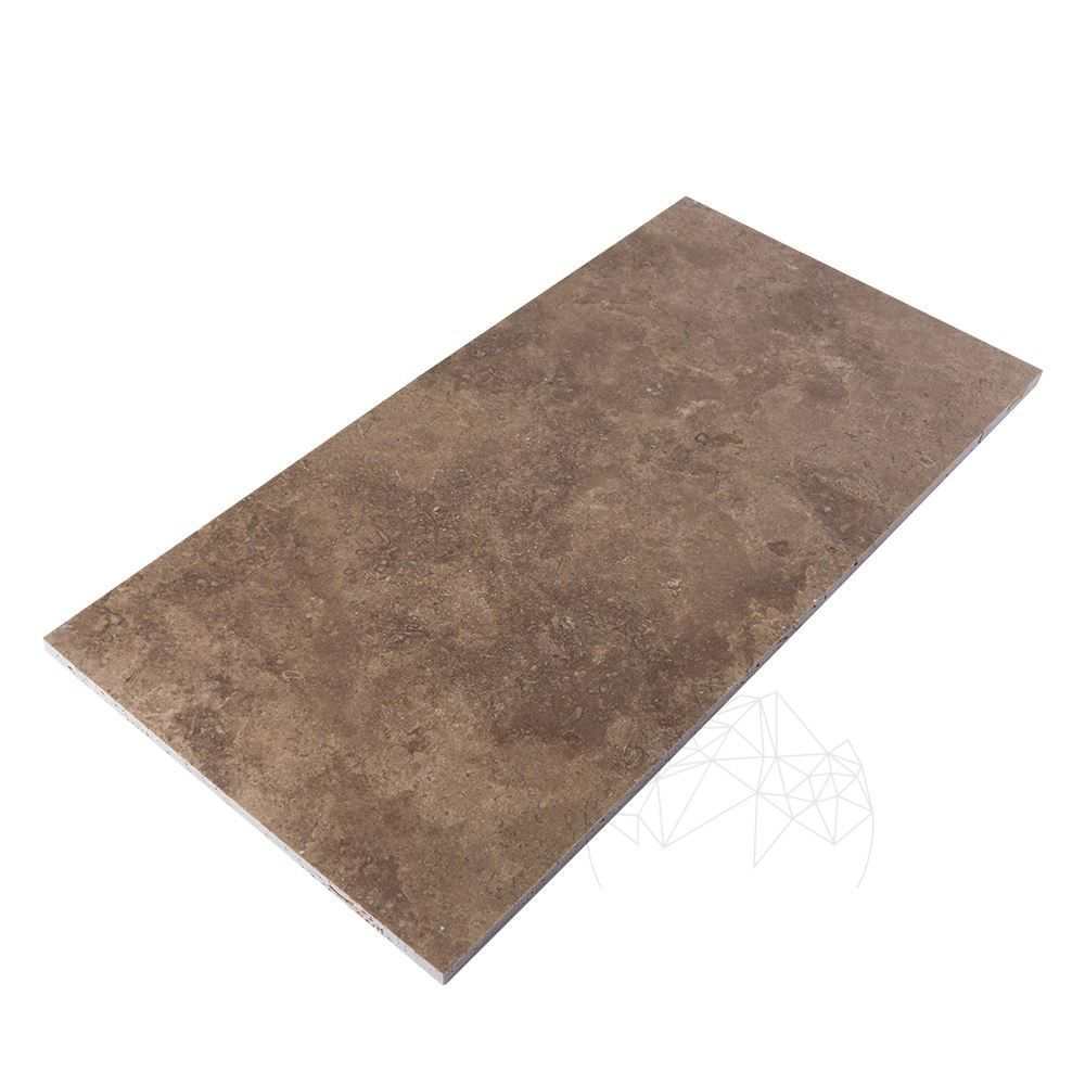 Placa Travertin Noce Cross Cut Mat 61 x 30 x 1.2 cm