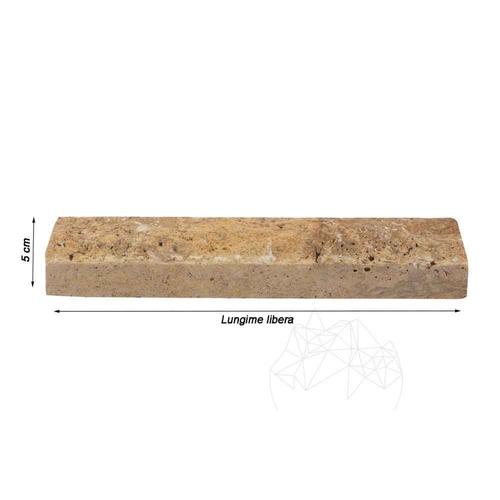 Travertin Yellow Scapitat 5 cm x LL x 2.2 cm
