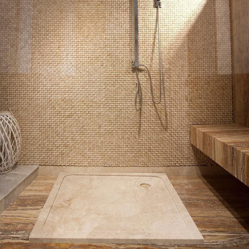Cada baie marmura Cappuccino ST-012 SBSS 90 x 90 x 3 cm