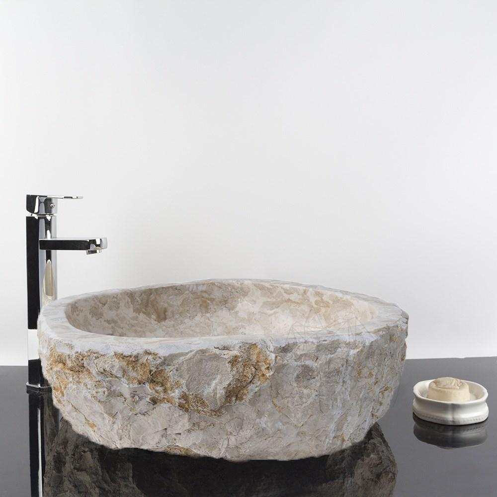 Chiuveta baie limestone Crem Natura