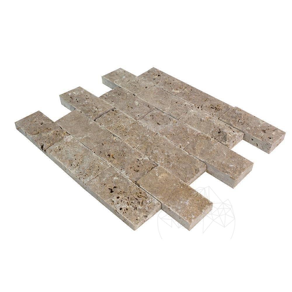 Mozaic Travertin Noce Scapitat 5 X 10 Cm - Lichidare Stoc