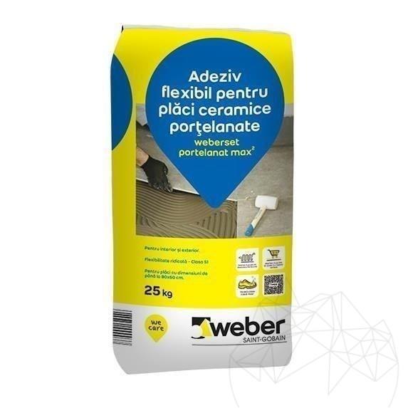 Adeziv Gresie / Piatra Naturala - Weber Set.portelanat Max²