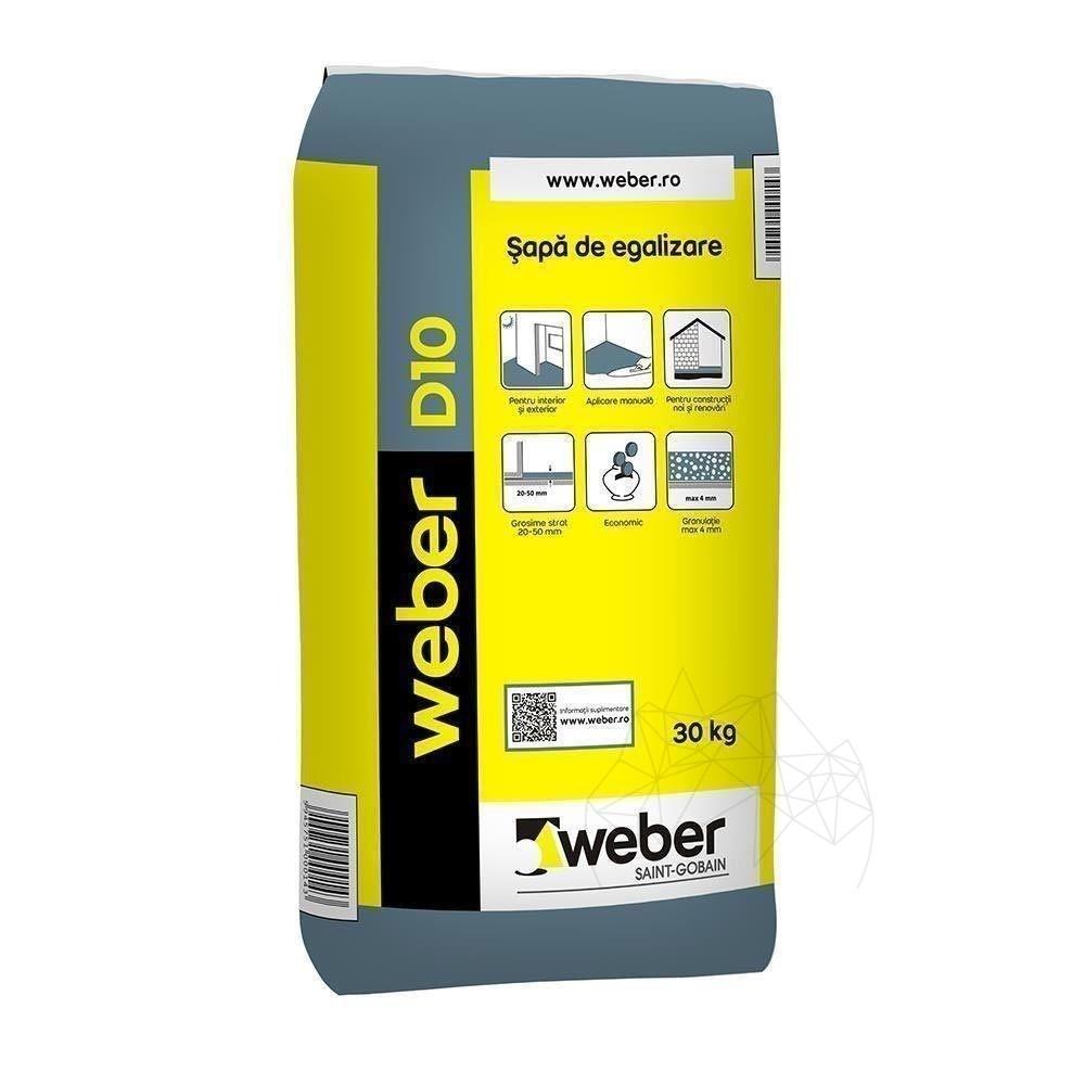Sapa Fina De Egalizare - Weber D10 - 30kg