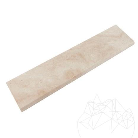 Plinta Travertin Classic, Cross Cut, Mat, 7 x 30.5 x 1.2 cm (Bizot 1L)