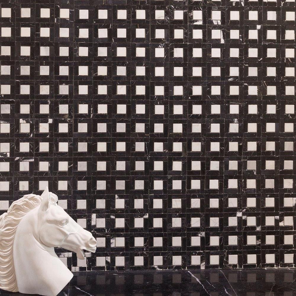 Mozaic Marmura Nero Marquina / Alba Polisat (patra