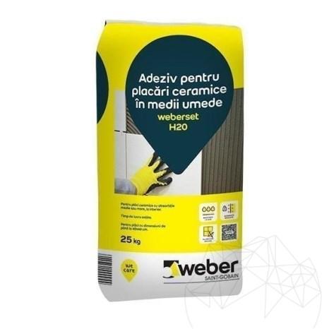 Adeziv pentru placari piatra naturala in medii umede - Weber Set H2O - 25 KG