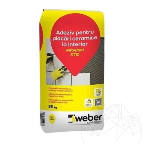 Adeziv pentru placari piatra naturala la interior - Weber Set ST10