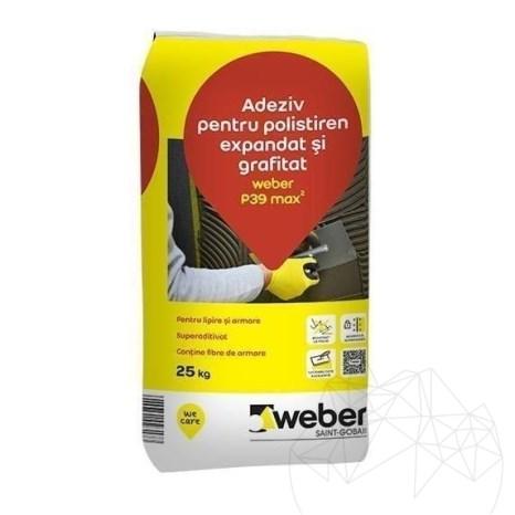 Adeziv pentru polistiren expandat si grafitat - Weber P39 Max²