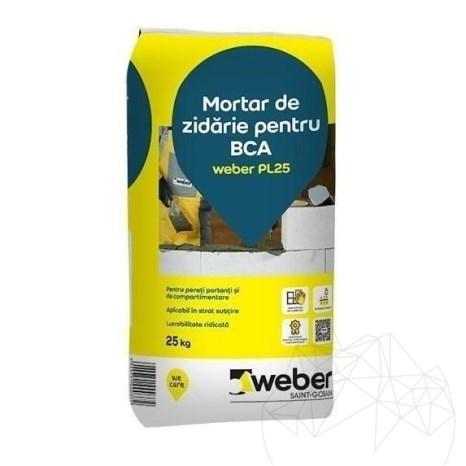 Mortar de zidarie pentru BCA - Weber PL25