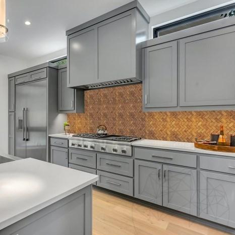 Mozaic Travertin Peach Herringbone Polisat 2.3 x 5 cm