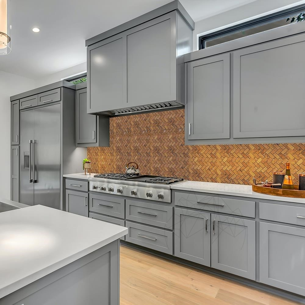 - 4337651 big - Mozaic Travertin Peach Herringbone Polisat 2.5 x 5 cm