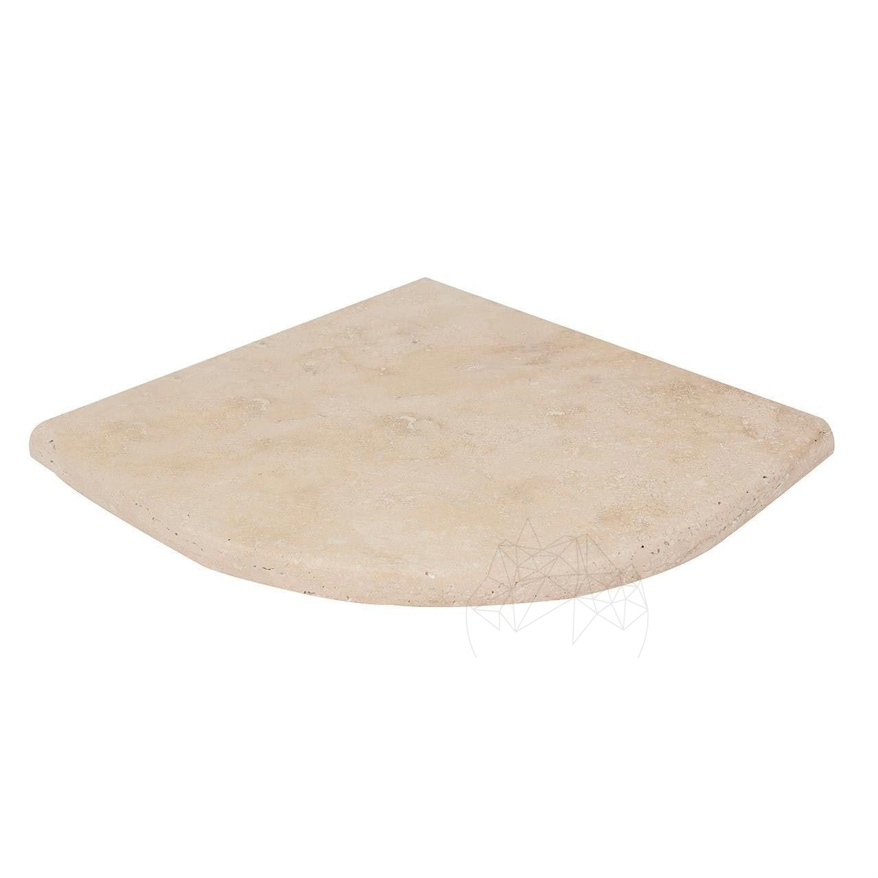 Etajera/Raft travertin classic - semirotund - 20 x 20 x 2 cm - 4396445 big - Etajera/Raft travertin classic – semirotund – 20 x 20 x 2 cm