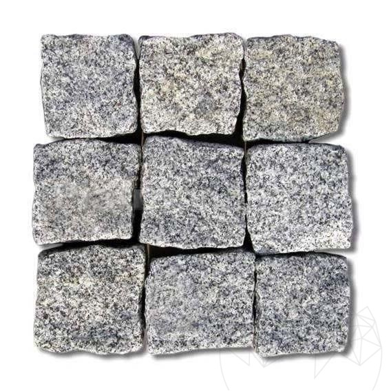 Piatra Cubica Granit Gri Sare Si Piper Natur 10 X 10 X 5cm (1tona = 8-10mp)