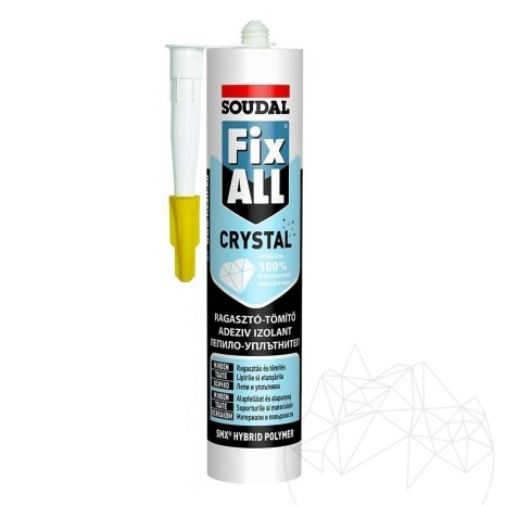 Adeziv ardezie flexibila - Soudal FIX ALL CRYSTAL- 290ml (Transparent)