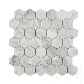 Mozaic Marmura Bianco Carrara Hexagon Small Mata