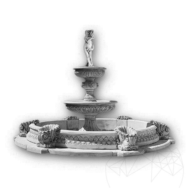 Fantani Arteziene Fontana Regale + Bazin-stat F 67 Cb - Finisaj Alb