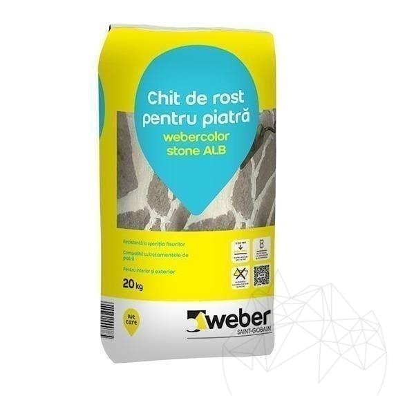 Chit Rosturi Piatra Naturala - Weber Color Stone Alb - 20kg