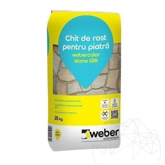 Chit Rosturi Piatra Naturala - Weber Color Stone Gri - 20kg