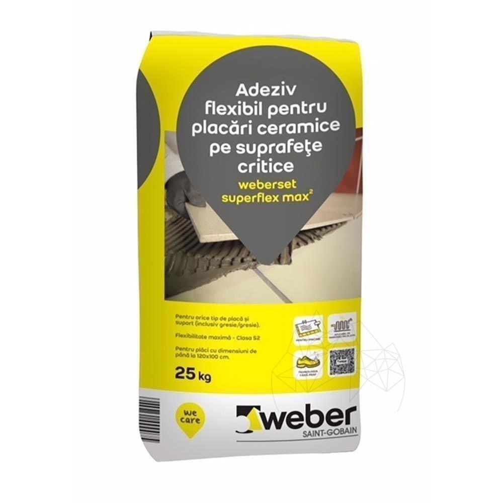 Adeziv Profesional - Weber Set Superflex Max² 25k