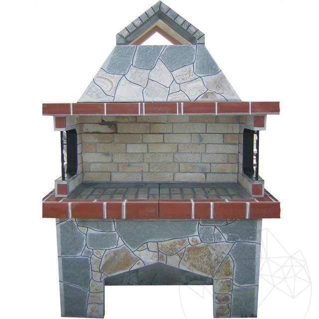 Gratar Gradina Mare cu sistem grill - Placat cu piatra poligonala
