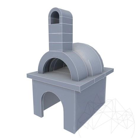 Cuptor Gradina - Placat cu piatra poligonala