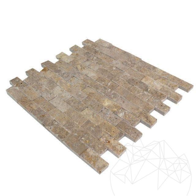 Mozaic Travertin Noce Scapitat 2.3 X 4.8 Cm - Lichidare Stoc