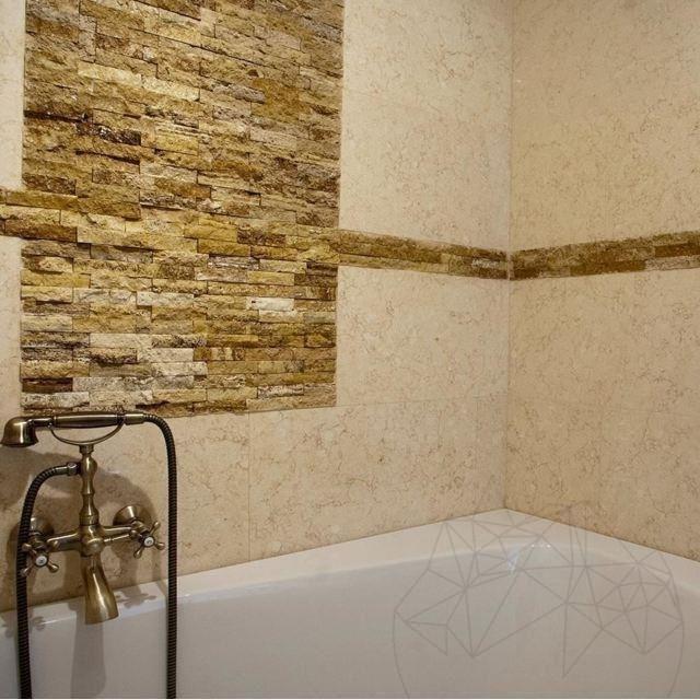 Mozaic Travertin Yellow Scapitat 2.5 X 10cm