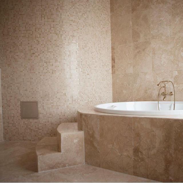 Mozaic Travertin Classic Polisat 2.3x2.3 Cm
