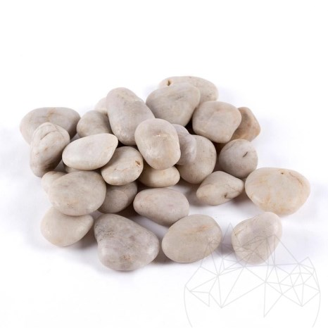 Pebble White Polished Sac 20 KG