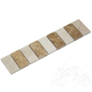 Bordura B54 Marmura Light Beige si Light Emperador - Lichidare Stoc