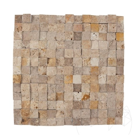 Mozaic Travertin Mix (Noce/Classic/Yellow) Scapitat 2.3 x 2.3 cm