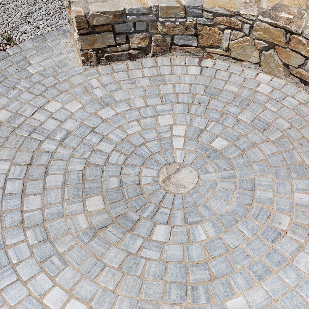 Piatra Cubica Marmura Kavala Antichizata 10 X 10 X 4-5cm